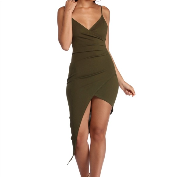 Sexy Olive Green Dress a534898d3eb2